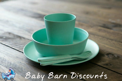 NEW Bobo & Boo Kids Bamboo Dinner Set - Mint Green from Baby Barn Discounts