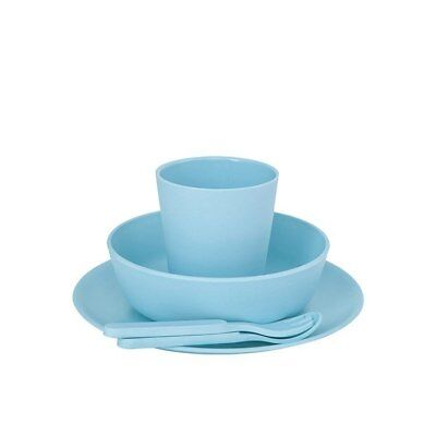 Bobo & Boo Kids Bamboo Dinner Set - Pacific Blue