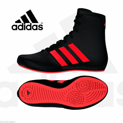 Adidas Boxing Kids Childs KO Legend 16.2 Boots Shoes Boxer Fighter Black, Red