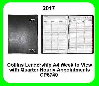 Collins 2017 A4 Leadership CP6740 Diary (Week to View) with Appointment Times
