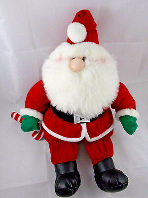 """First & Main St Nick Santa Claus 16"""" Plush Menagerie Collection"""