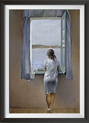 Salvador Dali 'Person at the Window' Surreal Art Two Sizes Print - Large Print