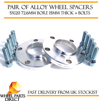 Wheel Spacers 15mm (2) Spacer Kit 5x120 72.6 +Bolts for BMW M3 [E46] 00-06