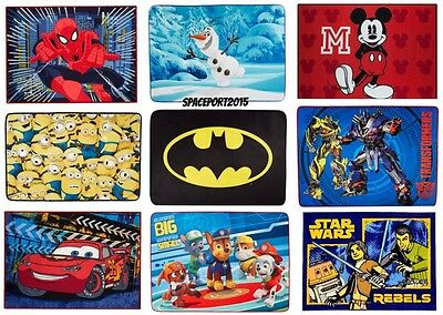 Kids Bed Room DECOR RUG Boys TV Movie Disney Comics Characters Bedding Playroom