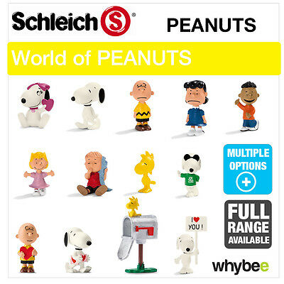 NEW! SCHLEICH PLASTIC FIGURES & FIGURINE SETS from PEANUTS SNOOPY CHARLIE BROWN