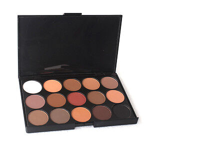 New Chic Pro 15 Colors Warm Nude Matte Shimmer Eyeshadow Palette Makeup Kits #2