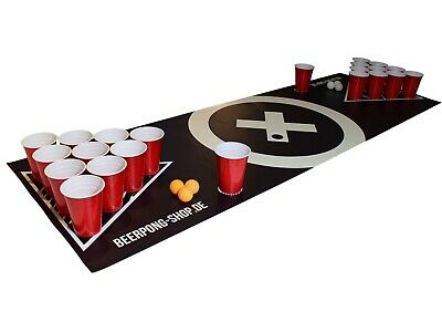 beer pong tisch set audio table inkl 100 becher 50. Black Bedroom Furniture Sets. Home Design Ideas