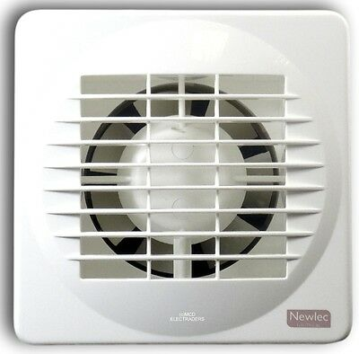 "Newlec NL880 100mm (4"") Axial Extractor Fan (Standard Model - NO Timer)"