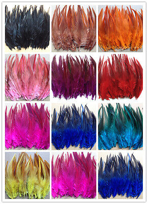 Free shipping Beautiful 50pcs rooster tail feathers 10-15cm / 4-6inch