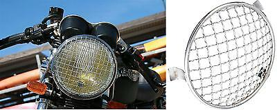gitter scheinwerfer chrom moto headlight stoneguard. Black Bedroom Furniture Sets. Home Design Ideas