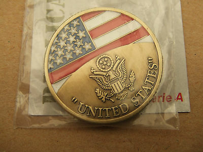 Coin Medaille Victory Drapeau Usa D-Day