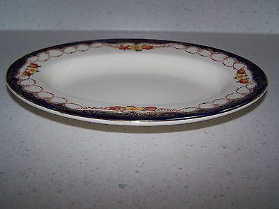 Myott And Son Co. England -  Rosemary 9'' Oval Condiment / Relish Dish - Cobalt