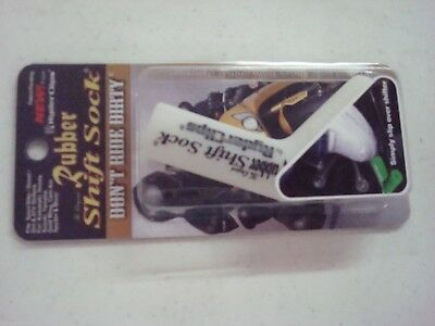 Rubber Ryder Gear Shift Sock White Sport Bike 26-7200W