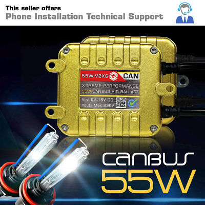 55W CANBUS Gold Series HID Kit Conversion Xenon Lights H11 H7 9006 H13 H4 9007
