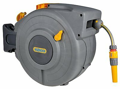 Hozelock Auto Rewind 20 m Hose Reel with Connectors and Fittings - Colour May