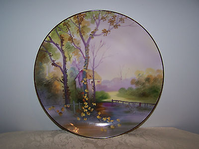 Beautiful Hand Painted Nippon Collector 10 Inch Wall Plate