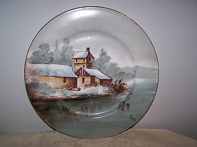 Beautiful Signed Thomas - Limoges France Collector Wall Plate - 10 1/4''