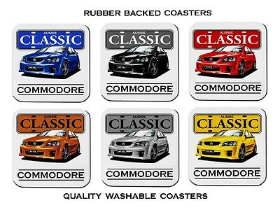 Holden   Ve  Ss  Ssv  Commodore         Set Of  6   Rubber Drink  Coasters
