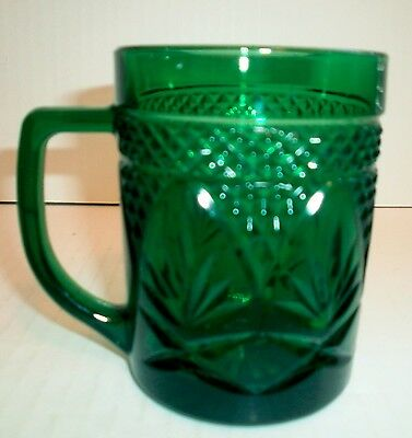 1 Cris D'arques Durand Antique Emerald Green Mug