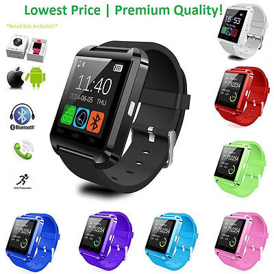 Bluetooth Wrist Smart Bracelet Watch Phone for IOS Android Samsung iPhone Huawei