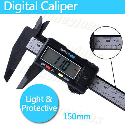 "6"" 150mm Digital LCD Vernier Caliper Electronic Gauge Micrometer Measuring Tool"