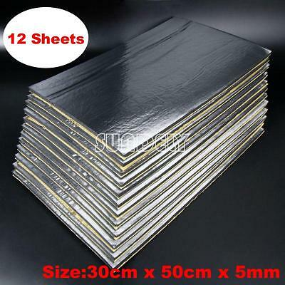 12x Car/Van Glass Fibre Sound Proofing Deadening Insulation 5mm Closed Cell Foam