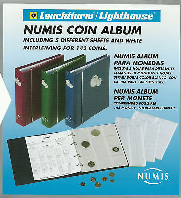NUMIS compact COIN & BANKNOTE ALBUM + 10 diff PAGES