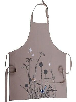 Certified Organic Cotton - Blue Wren Kitchen Apron - Carbon Neutral Sustainable