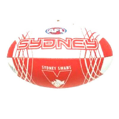 Afl Sydney Swans Full Size Synthetic Team Football - Brand New
