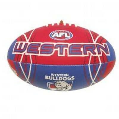 Afl Western Bulldogs Full Size Synthetic Team Football - Brand New