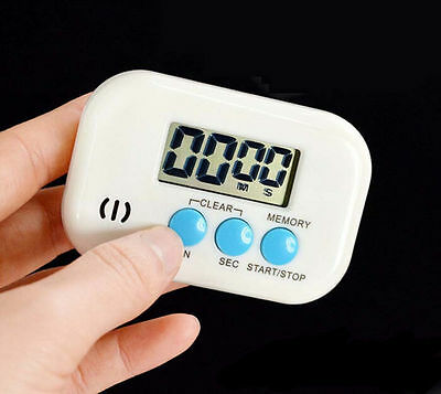 Alarm Up Digital Magnetic Electronic Timer LCD Cooking Count Clock Down Kitchen