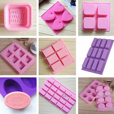 Handmade Soap Mould Ice Cube Chocolate Cake Pudding Silicone Mold Baking Tray