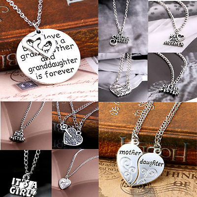Jewelry Gift Sister Mother Family Best Friend Love Cool Pendant Necklace
