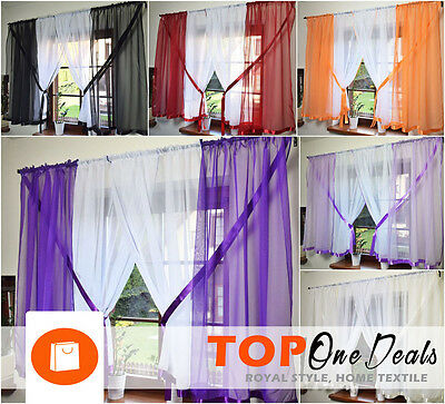 Amazing Voile Net Curtains Ready Made Living Dining Room Bedroom Novelty New