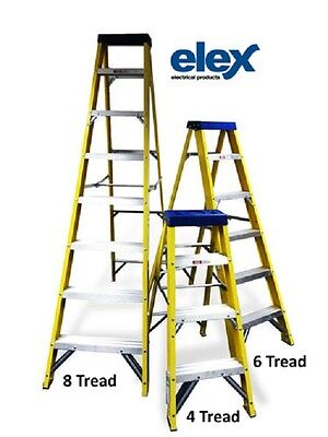 Heavy Duty Fibreglass Stepladder for Use on Site, Available as 4, 6 or 8 Tread