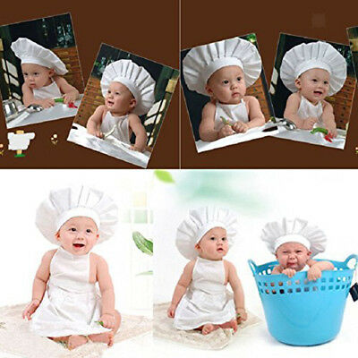 Photo Props Baby Costume Newborn Kid Little Chef Photography Prop Outfit