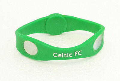 Size XL CELTIC FC Silicone Ionised Wristband Football MENS Wrist band Kids