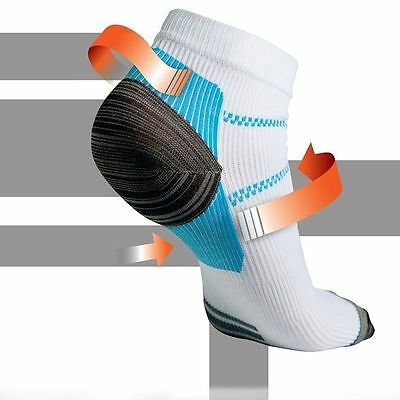 Yoga GYM Massage Sport Foot Ankle Pain Relief Socks Hurt Nylon Therapy