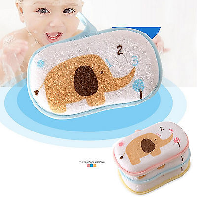 Baby Kids Newborn Bath Bathup Brush Soft Pure Cotton Bath Foam Rub Shower Sponge