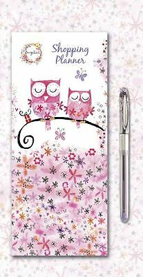 Daisy Patch Animal Friends Owls Magnetic Shopping Planner With Pad & Gel Pen