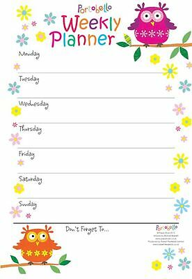 A4 Weekly Planner Portobello Owl Design Tear Off Planner