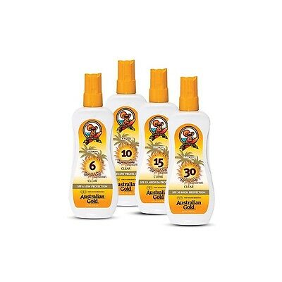Australian Gold Spray Gel Sunscreen SPF10 Low Protection