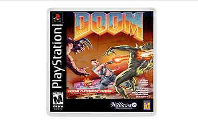DOOM PLAYSTATION ONE retro gaming psx ps1 fridge MAGNET free post