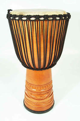 """Djembe African Drum 11"""" x 22"""" with goat skin head and nice tight tuning"""