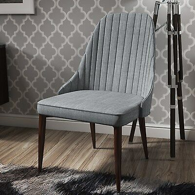 Single Grey Upholstered Dining Chair