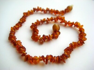 """Raw Natural Baltic Amber Baby Necklace 12,9-13,5"""""""