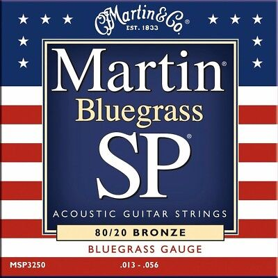 Martin MSP3250 Bluegrass SP 80/20 Bronze Acoustic Guitar Strings + Free Shipping