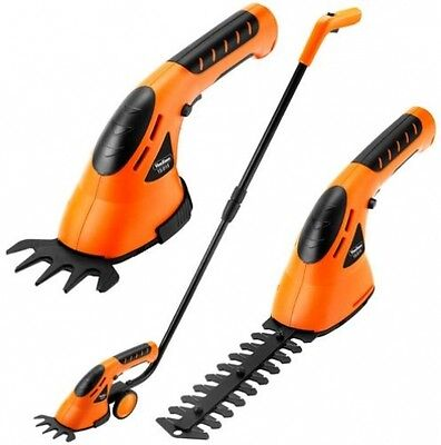 VonHaus 7.2V Lithium-Ion Cordless 2 in 1 Grass and Hedge Trimmer Gardening Tool