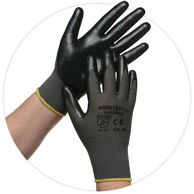 Ambitex Pro Microfoam Nitrile Coated Nylon Work Gloves, 1 Pair Medium