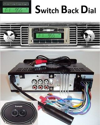 1956 Chevy Car  AM FM Stereo Radio w/ Switch Back AM Dial + Speaker 230DF